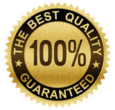 Best quality guaranteed gold seal medal with clipping path royalty free illustration