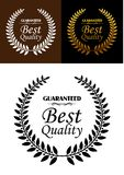 Best quality guaranteed label or emblem Stock Images