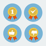Best quality icon - guarantee seal Royalty Free Stock Image