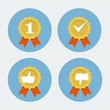 Best quality icon - guarantee seal Royalty Free Stock Photos