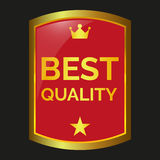 Best quality label. On black background, vector illustration Royalty Free Stock Images