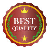 Best quality label. On white background, vector illustration Royalty Free Stock Photo