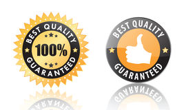 Best quality labels. Best quality guaranteed labels isolated on a white background (vector image included Stock Photos