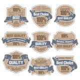 Best Quality Labels Royalty Free Stock Photography