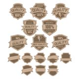 Best Quality Labels. Set of Best Quality Labels eps 10 Royalty Free Stock Photos
