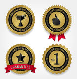 Best Quality Labels - Golden Stock Photo