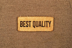 Best Quality Leather Label Tag Royalty Free Stock Photo