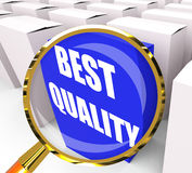 Best Quality Packet Represents Premium Excellence and Superiorit Stock Photo