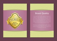 Best Quality Premium 100 Choice Exclusive Label. Best quality premium 100 choice exclusive high quality best golden award guarantee label logo isolated on poster Royalty Free Stock Images