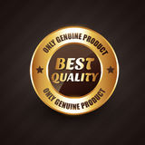 Best quality premium label badge with genuine products design Royalty Free Stock Photography