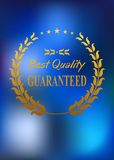 Best quality product label or emblem Royalty Free Stock Images