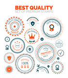 Best quality set of premium stamps. Vector best quality set of premium stamps Royalty Free Stock Photo