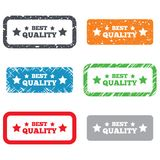 Best quality sign icon. Special offer symbol Stock Photos