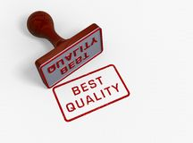 Best quality -stamp. Best quality stamp concept picture Stock Images