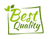 Best quality sticker. Vector illustration for graphic and web design Royalty Free Stock Image