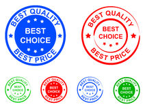 Best quality sticker. Illustration of best quality and best choice sticker Stock Image