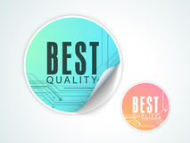 Best Quality sticker, tag or label design. Royalty Free Stock Photos