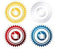 The Best Quality stickers. The best choice label in four colors. Choose what u like Royalty Free Stock Images