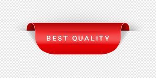 Best Quality Vector Sticker, Tag, Banner, Label, Sign Or Ribbon Realistic Red Origami Style Vector Paper Ribbon For Web royalty free illustration