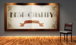 Best quality vintage advertising, retro interior Royalty Free Stock Images