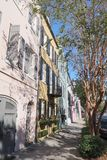 Best Rainbow Row Charleston historic downtown royalty free stock photography