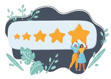 The best rating, evaluation, online review. royalty free illustration