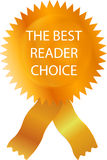 Best Reader. Gold Certificate  with band for your print label Royalty Free Stock Images