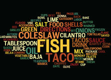Best Recipes Baja Fish Tacos Word Cloud Concept Royalty Free Stock Photography