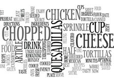 Best Recipes Chicken Quesadillas Word Cloud Royalty Free Stock Images