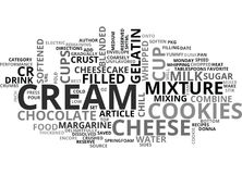 Best Recipes Cookies And Cream Cheesecakeword Cloud Stock Image