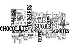 Best Recipes Marble Cheesecake Word Cloud Stock Photography
