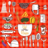 Best Recipes-Set of kitchen tools on cconcept background. Royalty Free Stock Photo