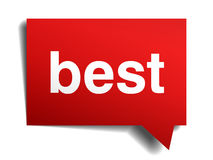 Best red 3d realistic paper speech bubble Royalty Free Stock Images