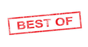 Best Of in red rectangular stamp Royalty Free Stock Photography