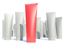 Best red tube. White background Stock Photography