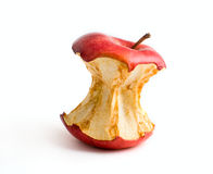 Best reduce. Stub of a red apple isolated on a white background Stock Photo