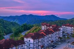 Best resort on Cameron Highland, Malaysia. Shoot on the building Stock Photo