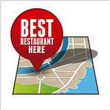 Best Restaurant finder Royalty Free Stock Image