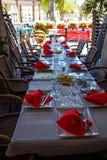 Best restaurant, setting the table. Stock Photos