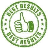 Best results vector stamp. Illustration stock illustration
