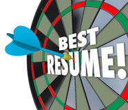 Best Resume Dart Hitting Board Skills Experience Reference Educa Stock Image