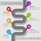 Best road infographic Royalty Free Stock Photography
