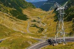Best road in the world. Transfagarasan, Romania (Top Gear Stock Image