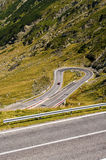 Best road in the world. Transfagarasan, Romania (Top Gear Royalty Free Stock Photo