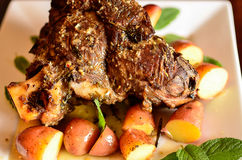 Best roast leg of lamb Royalty Free Stock Photos