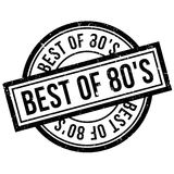 Best Of 80`S rubber stamp. Grunge design with dust scratches. Effects can be easily removed for a clean, crisp look. Color is easily changed Stock Images