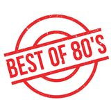 Best Of 80`S rubber stamp. Grunge design with dust scratches. Effects can be easily removed for a clean, crisp look. Color is easily changed Royalty Free Stock Photography