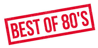 Best Of 80`S rubber stamp. Grunge design with dust scratches. Effects can be easily removed for a clean, crisp look. Color is easily changed Royalty Free Stock Photo