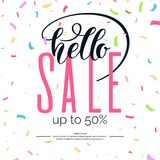 Best sale banner. Original poster for discount. Bright abstract background with text. Vector illustration Stock Photo