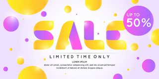 Best sale banner. Original poster for discount. Bright abstract background with text. Royalty Free Stock Images